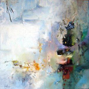 « Renaissance » 2007/2009 - Technique mixte sur toile 60 x 60 cm - Copyright © 2007/2009 - AERIN m.