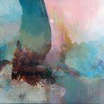 """""""Sylphe"""" 2018 - Technique mixte sur toile 73 x 100 cm - Copyright © 2018 - AERIN m."""