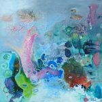 """""""Dès que tu m'effleures"""" 2013 - Technique mixte sur toile 80 x 80 cm - Copyright © 2011- AERIN m. Hellenia"""